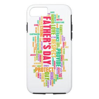 Der Vatertag als spezieller Tag mit Wörtern iPhone 7 Hülle