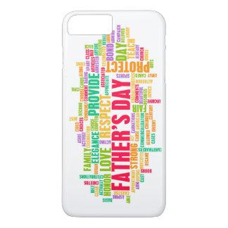 Der Vatertag als spezieller Tag mit Wörtern iPhone 7 Plus Hülle