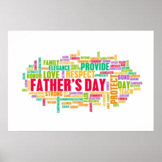 Der Vatertag als spezieller Tag mit Wörtern Poster