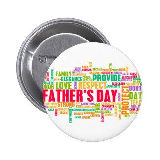 Der Vatertag als spezieller Tag mit Wörtern Runder Button 5,1 Cm