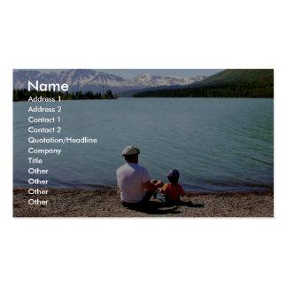 Der Vatertag am Kenai Staatsangehörig-Schutzgebiet Visitenkartenvorlagen