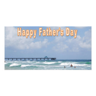 Der Vatertag am Strand Fotogrußkarten