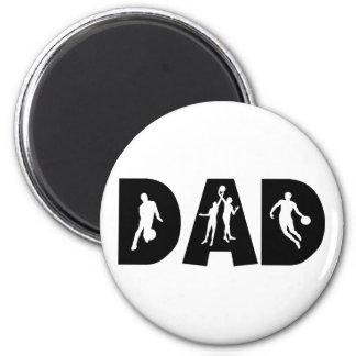 Der Vatertag Basketball-Vati- Runder Magnet 5,7 Cm