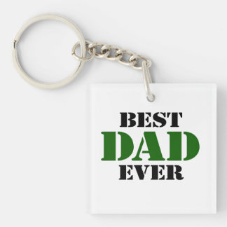 Der Vatertag Beidseitiger Quadratischer Acryl Schlüsselanhänger