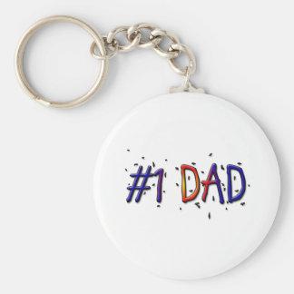 Der Vatertag des Vati-#1 Keychain Standard Runder Schlüsselanhänger