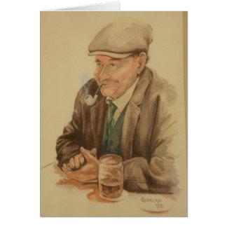 Der Vatertag eines Iren Grußkarte
