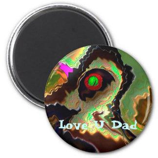 Der Vatertag:   Flippiger Vati!!  Liebe Sie Vati!! Runder Magnet 5,1 Cm