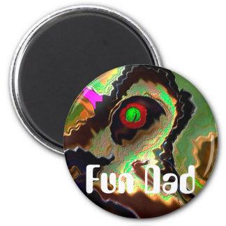 Der Vatertag:   Flippiger Vati!!  Liebe Sie Vati!! Runder Magnet 5,7 Cm