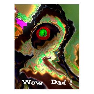 Der Vatertag:   Flippiger Vati!!  Liebe Sie Vati!! Postkarte