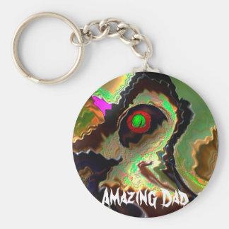 Der Vatertag:   Flippiger Vati!!  Liebe Sie Vati!! Standard Runder Schlüsselanhänger