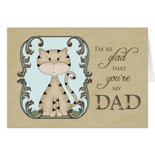 Der Vatertag - froh sind Sie mein Vati - Karte