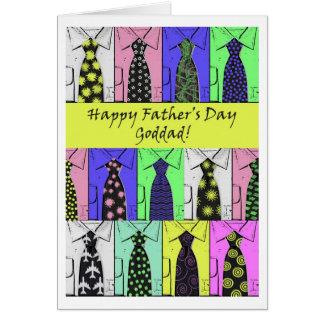 Der Vatertag für Goddad, Shirts und Krawatten Karte