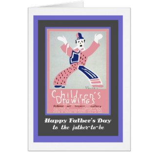 Der Vatertag, für Vater-zu-ist, Clown Karte