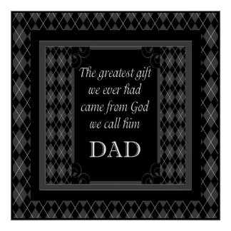 """Der Vatertag - Geburtstag """"beststes Geschenk wir """" Poster"""