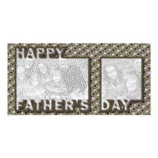 Der Vatertag herausgeschnitten ADDIEREN IHR FOTO H Photokartenvorlage