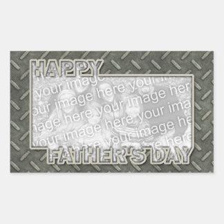 Der Vatertag herausgeschnitten ADDIEREN IHR FOTO M Rechteckige Sticker