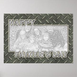 Der Vatertag herausgeschnitten ADDIEREN IHR FOTO M Poster