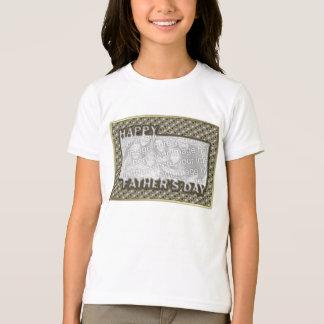 Der Vatertag herausgeschnitten ADDIEREN IHR FOTO T-Shirt
