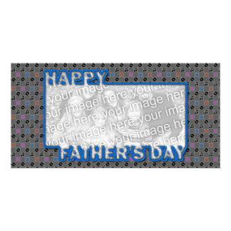 Der Vatertag herausgeschnitten ADDIEREN IHRE FOTO  Foto Grußkarte