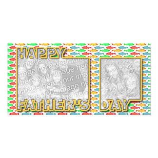 Der Vatertag herausgeschnitten ADDIEREN IHRE FOTO Personalisierte Photo Karte