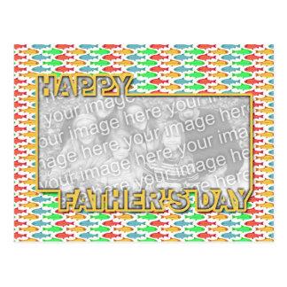 Der Vatertag herausgeschnitten ADDIEREN IHRE FOTO Postkarten