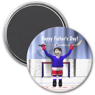 Der Vatertag Hockey-Sieger- Runder Magnet 7,6 Cm