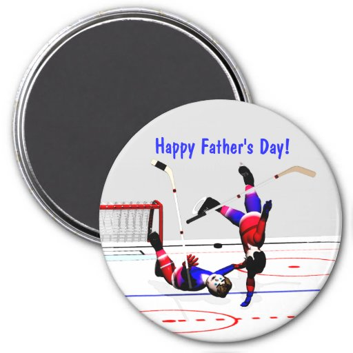 Der Vatertag Hockeyspiel- Kühlschrankmagnet