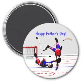Der Vatertag Hockeyspiel- Runder Magnet 7,6 Cm