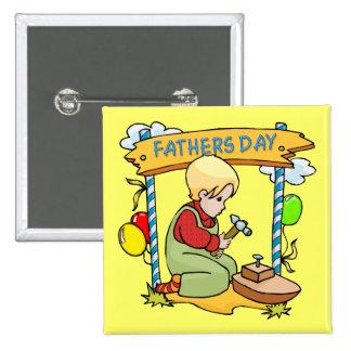 Der Vatertag: Junger Woodworker Buttons