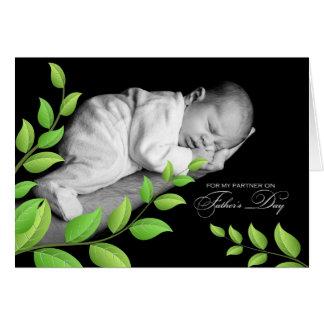 Der Vatertag Leben-Partner-neugeboren Grußkarte