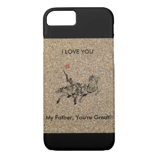 Der Vatertag mit Pferdepics iPhone 7 Hülle