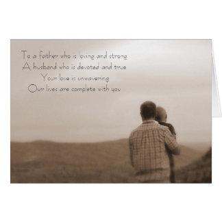 Der Vatertag Mitteilungskarte