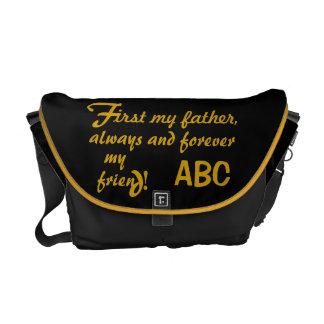 Der Vatertag sein Initialen-Vater Kurier Tasche