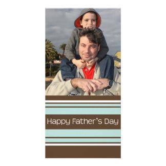 Der Vatertag Streifen- Fotokartenvorlage