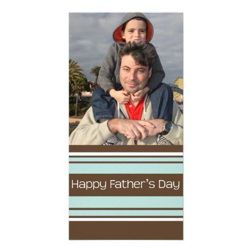 Der Vatertag Streifen- Photo Karten Vorlage