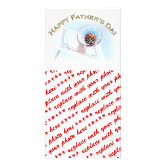 Der Vatertag trägt Basketball zur Schau Individuelle Photo Karten