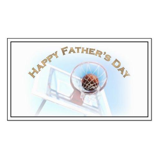 Der Vatertag trägt Basketball zur Schau Visitenkartenvorlage