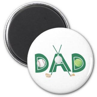 Der Vatertag trägt Vati zur Schau Runder Magnet 5,7 Cm