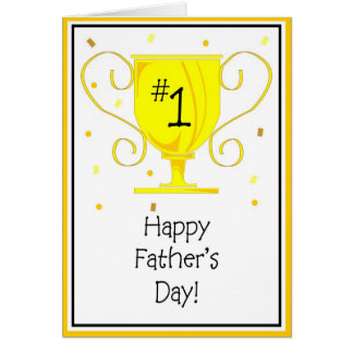 Der Vatertag - Vater Grußkarte