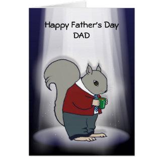 Der Vatertag, Vati im Scheinwerfer: Eichhörnchen Karte