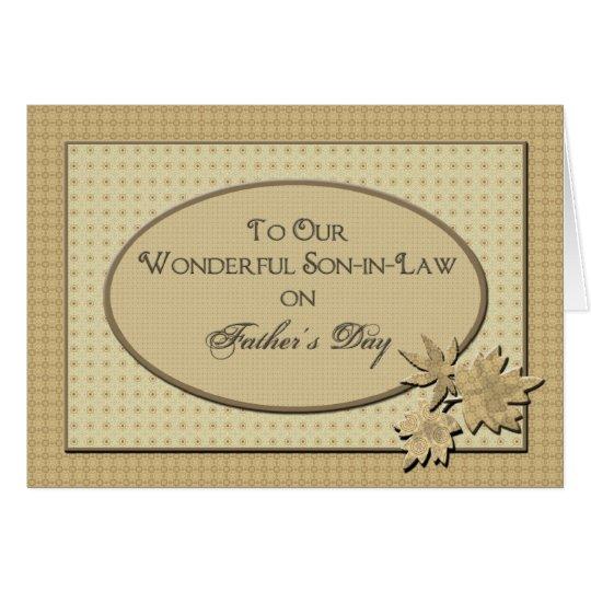 Der Vatertag - zu unserem Schwiegersohn Grußkarte