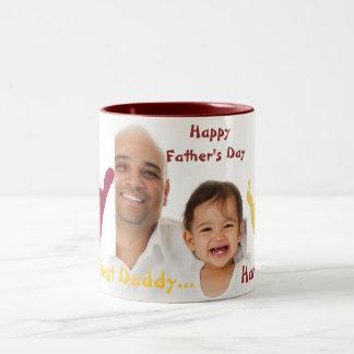Der Vatertag Zweifarbige Tasse