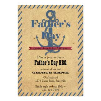 Der Vatertags-Anker GRILLEN Party Einladung
