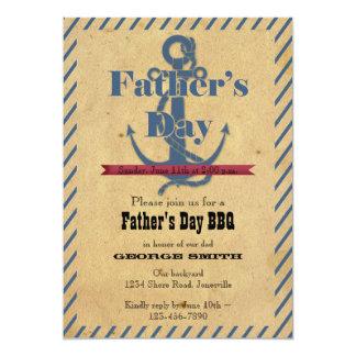Der Vatertags-Anker GRILLEN Party Einladung 12,7 X 17,8 Cm Einladungskarte