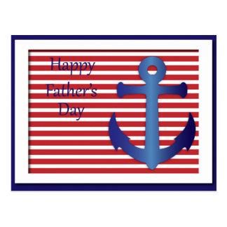 Der Vatertags-Anker nautisch Postkarten