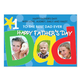 Der Vatertags-beste Vati-überhaupt Punkte 12,7 X 17,8 Cm Einladungskarte