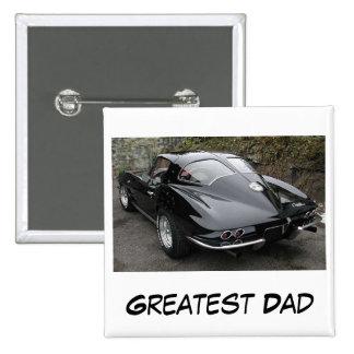 Der Vatertags-bestster Vati Quadratischer Button 5,1 Cm