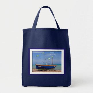 Der Vatertags-Blau-Boot Einkaufstasche
