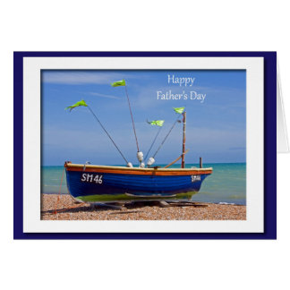 Der Vatertags-Blau-Boot Karten