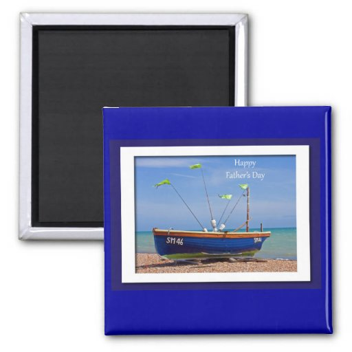 Der Vatertags-Blau-Boot Magnete